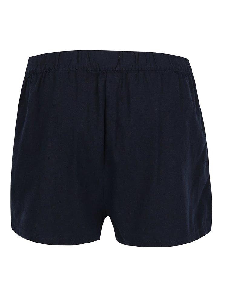 Pantaloni scurti albastru inchis Vero Moda Milo cu buzunare oblice