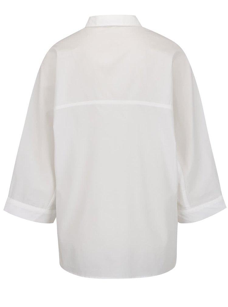 Bílá oversize košile s výšivkou ONLY Metta