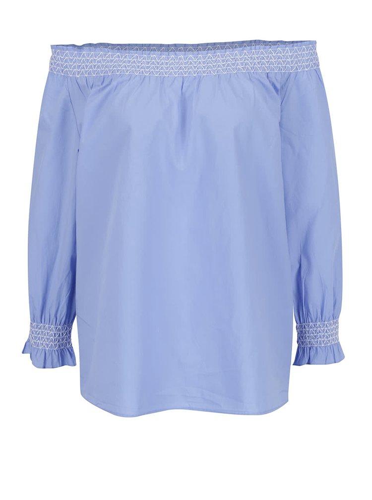 Bluză bleu ONLY Katy cu decolteu pe umeri