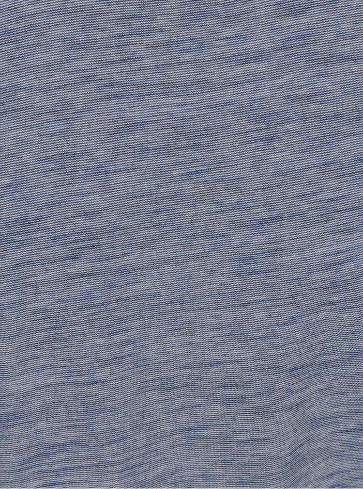 Tricou albastru melanj Selected Homme Pima