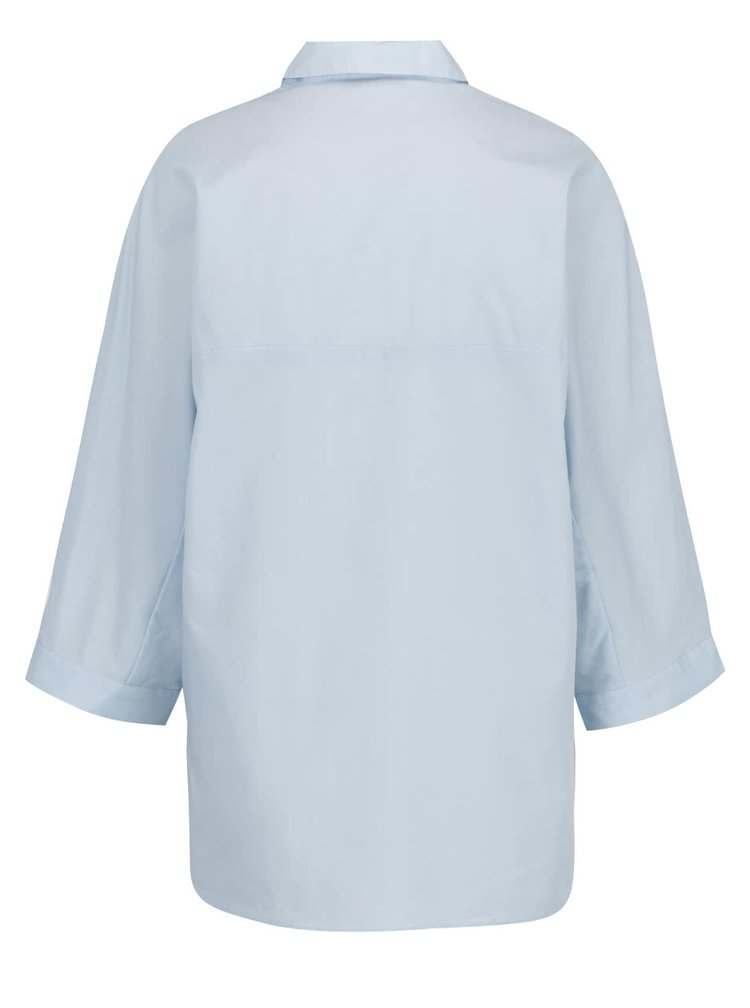 Camasa bleu cu broderie ONLY Metta din bumbac