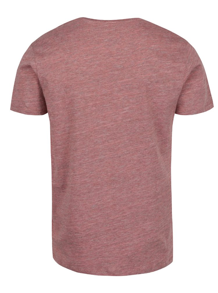 Tricou roz prăfuit Selected Homme Pima cu model discret