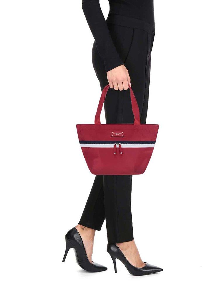 Geantă roșie U.S. Polo Assn. cu model