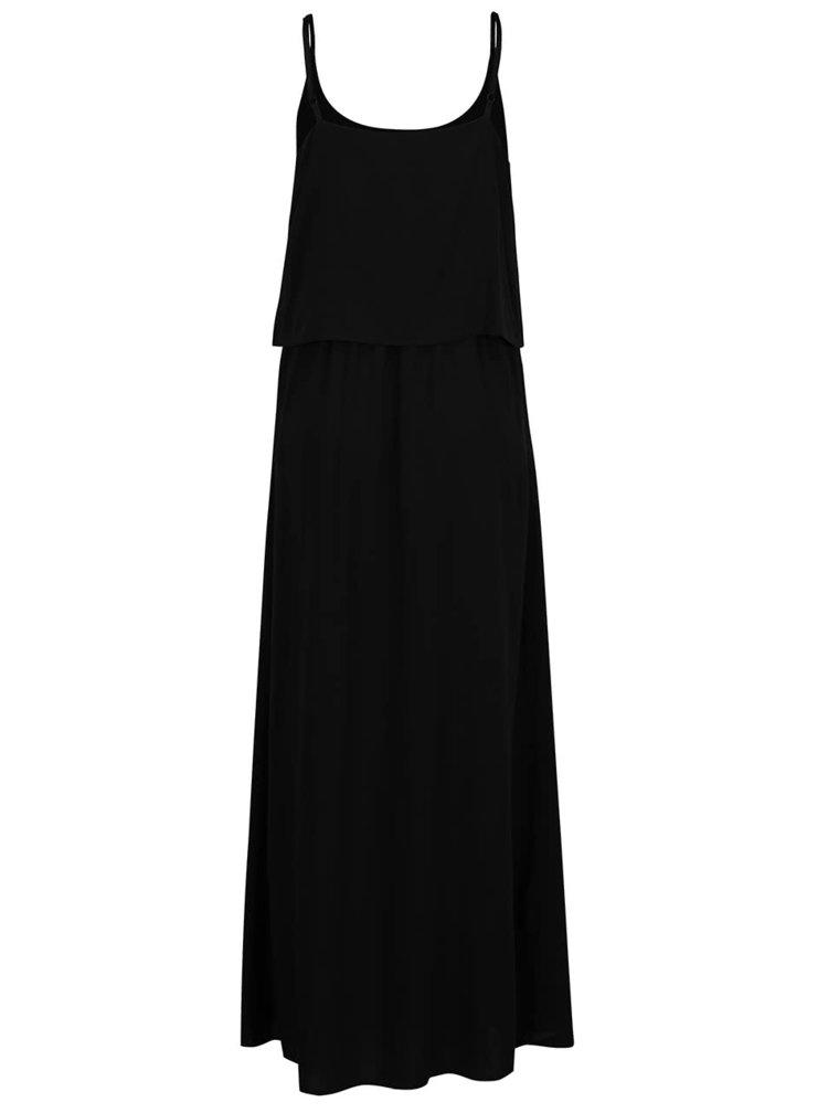 Rochie neagra Vero Moda Super Easy cu bretele subtiri