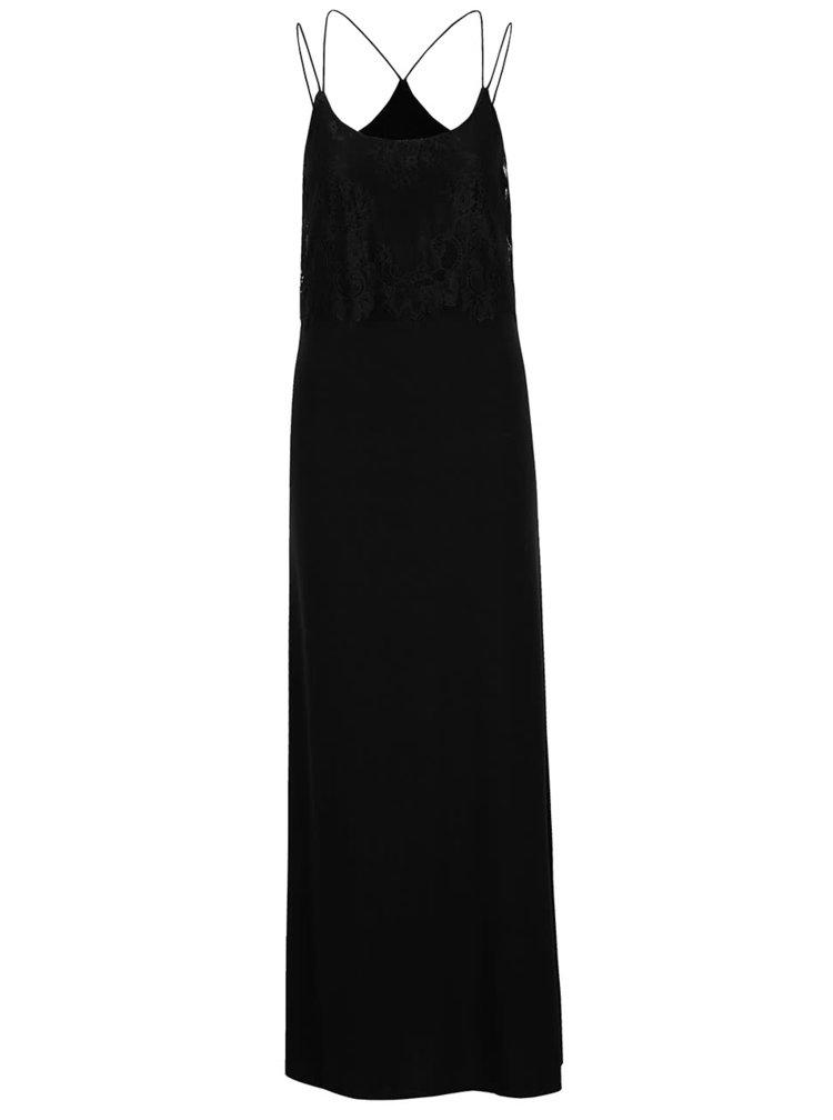 Černé maxišaty s krajkovým topem ONLY Maja