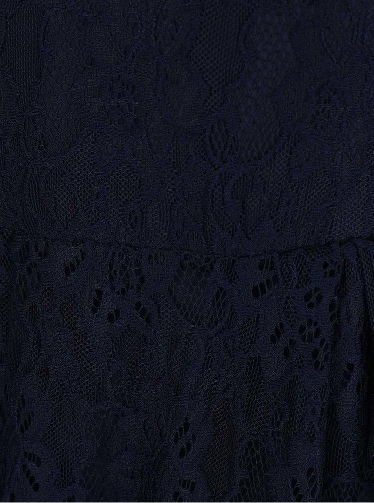 Tmavě modré šaty s průsvitnými zády ONLY Penelope