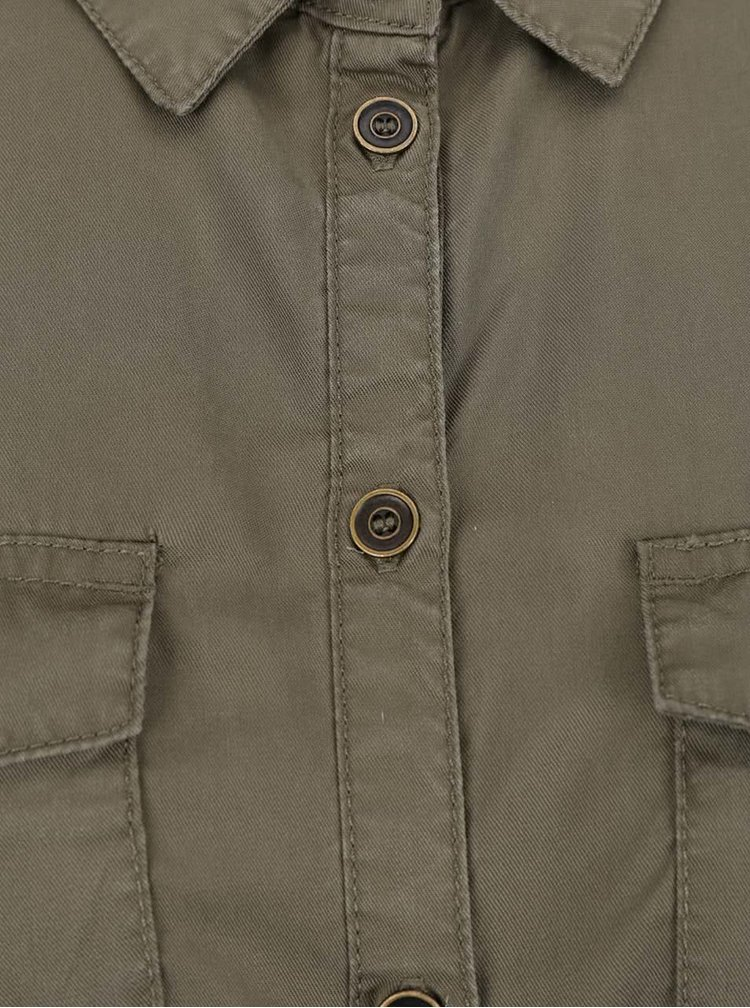 Khaki košilové šaty ONLY Arizona