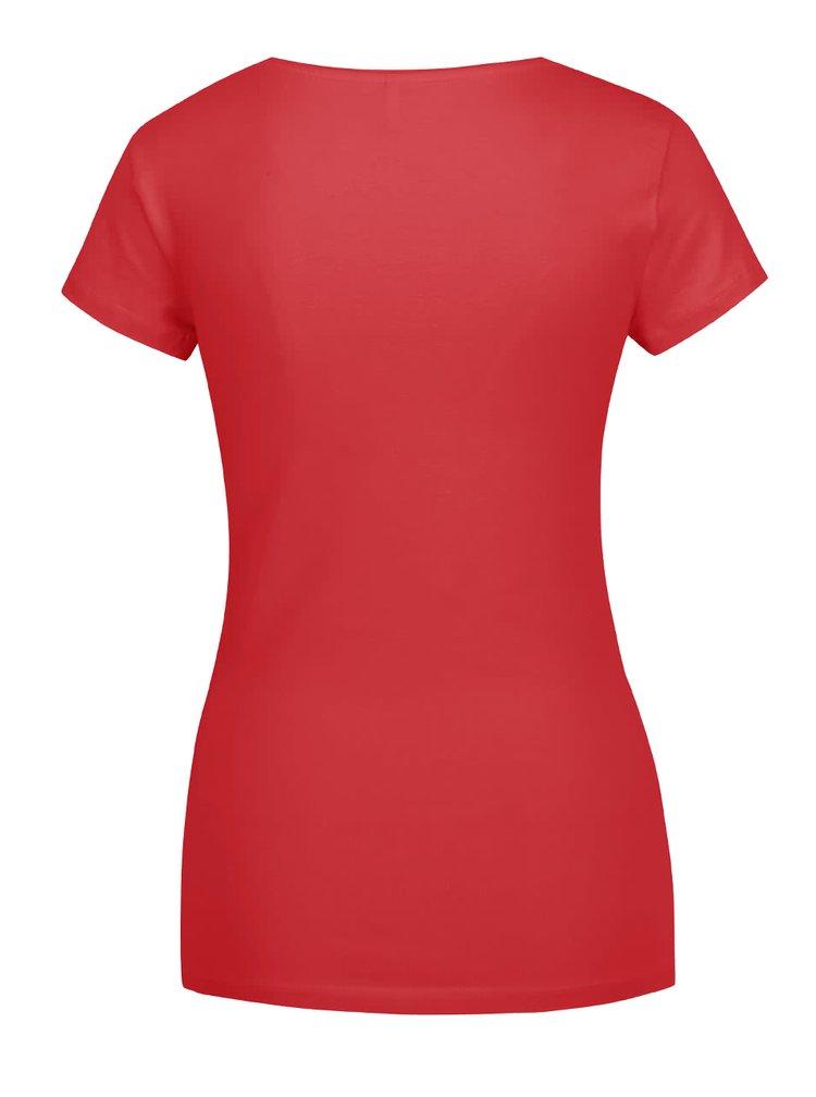 Červené basic tričko ONLY Live