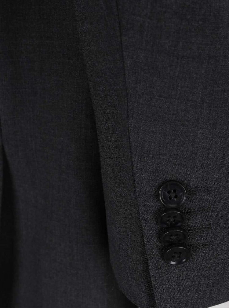 Tmavě šedé sako s příměsí vlny Jack & Jones Premium Wayne