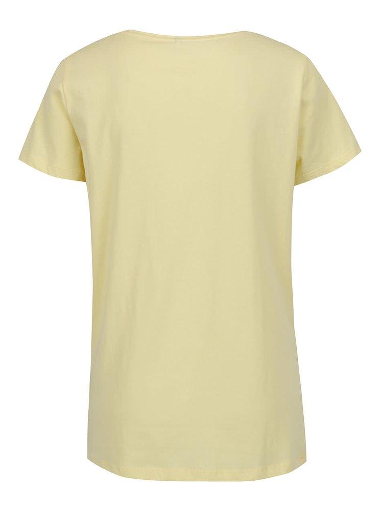 Tricou galben pai ONLY Kita cu aplicații paiete