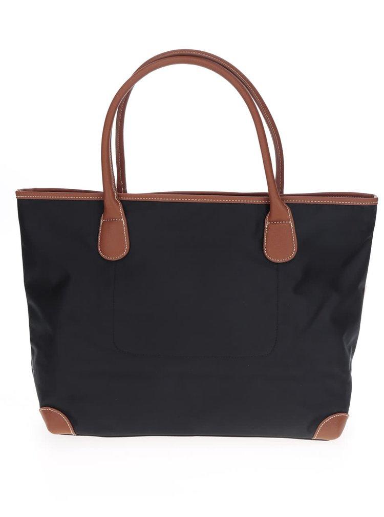 Černá kabelka s hnědými detaily U.S. Polo Assn.