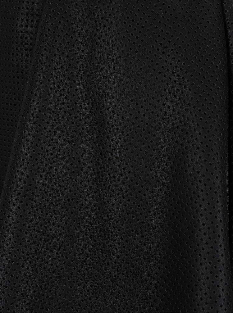 Černá perforovaná koženková sukně ONLY Victoria
