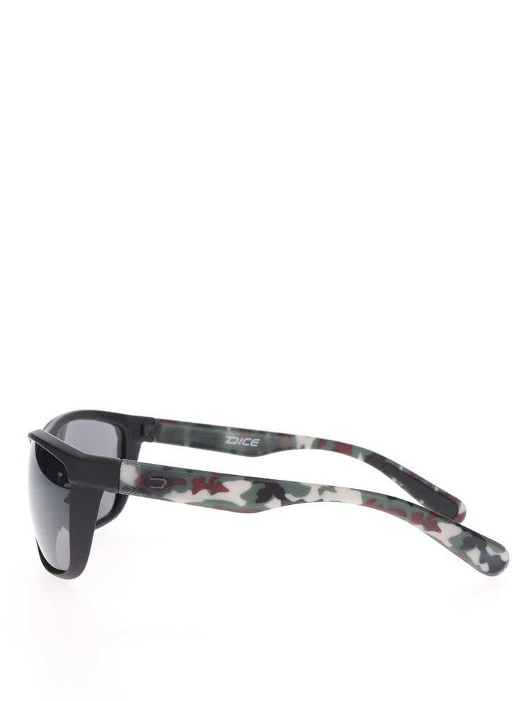 Ochelari de soare negri Dice cu model