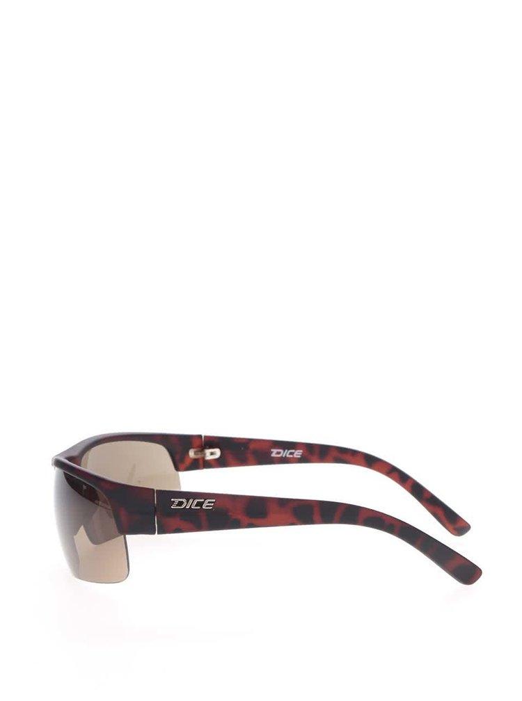 Hnědé vzorované pánské sluneční brýle Dice