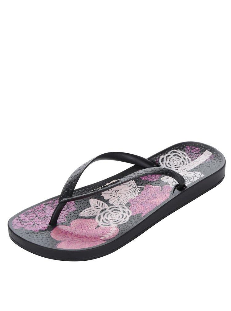 Șlapi negru&roz Ipanema Temas