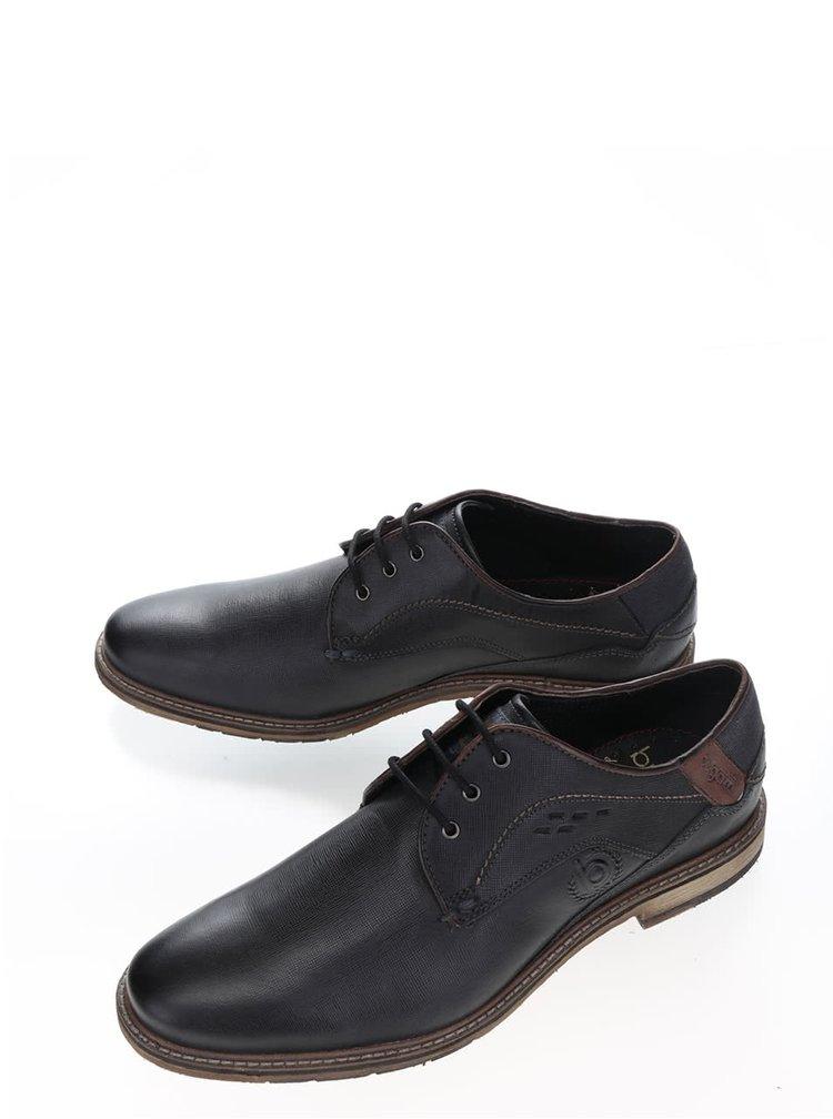 Pantofi gri inchis bugatti Adamo cu model discret