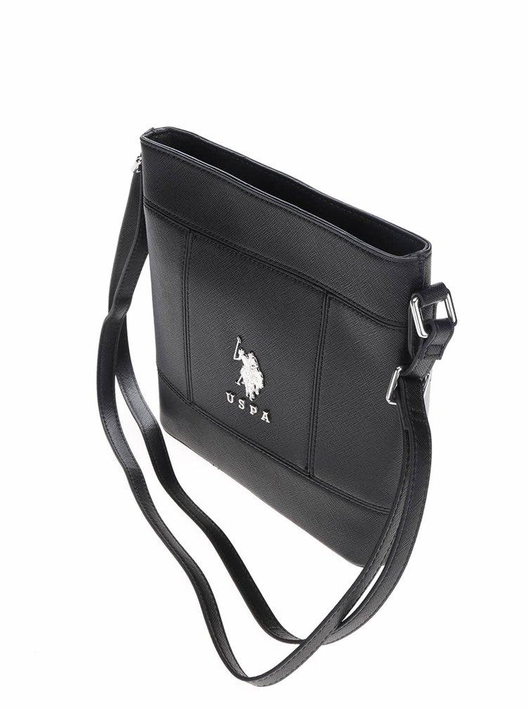 Geantă crossbody neagră U.S. Polo Assn. personalizată cu logo