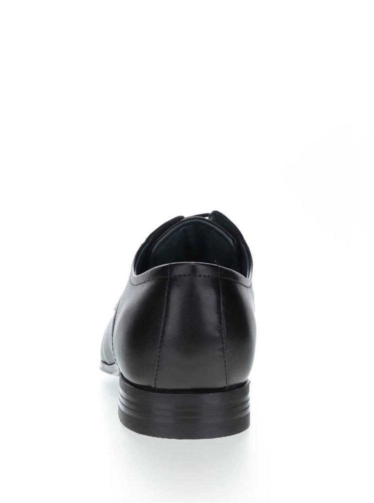 Čierne pánske kožené poltopánky bugatti Mattia