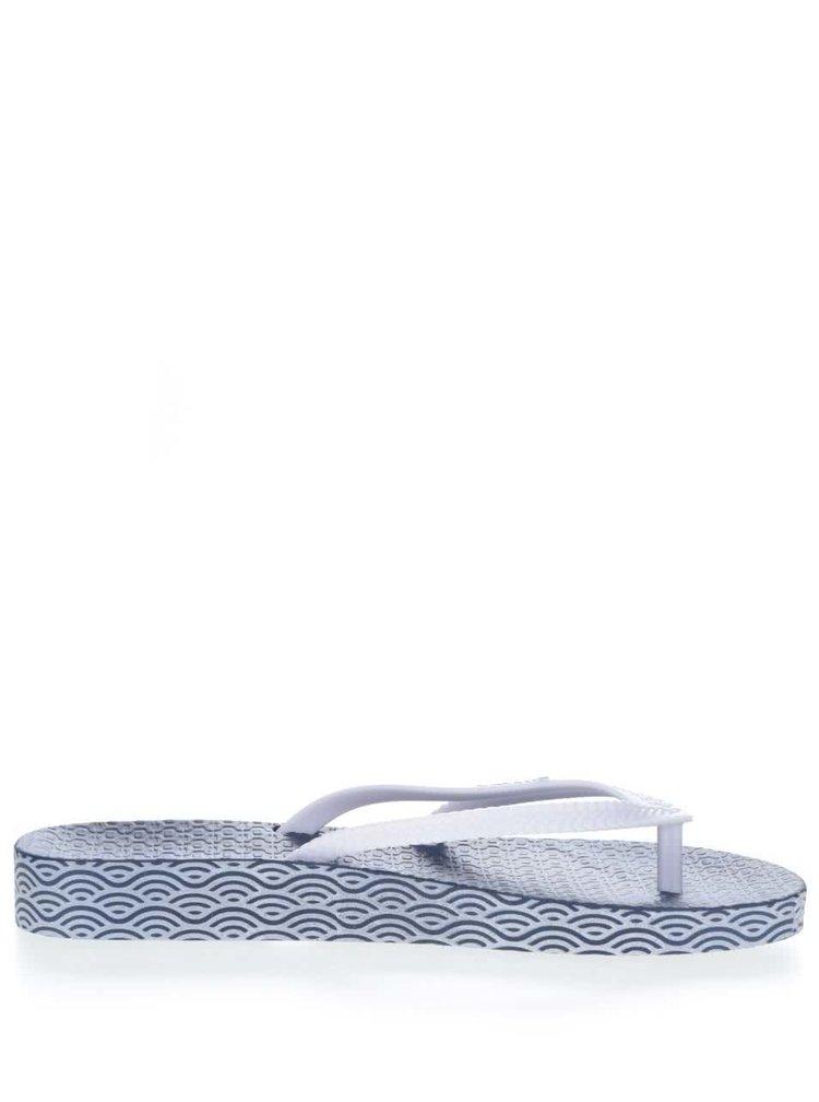 Slapi albastru & alb Ipanema Bossa Soft