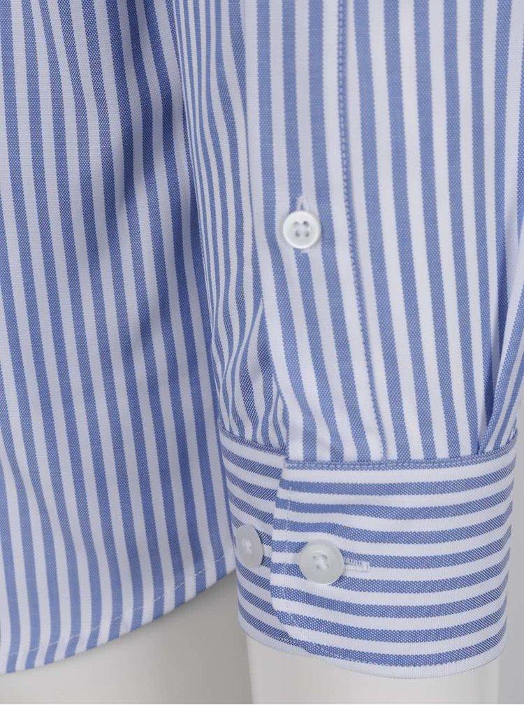 Cămașă alb&albastru cu carouri Selected Homme Done din bumbac
