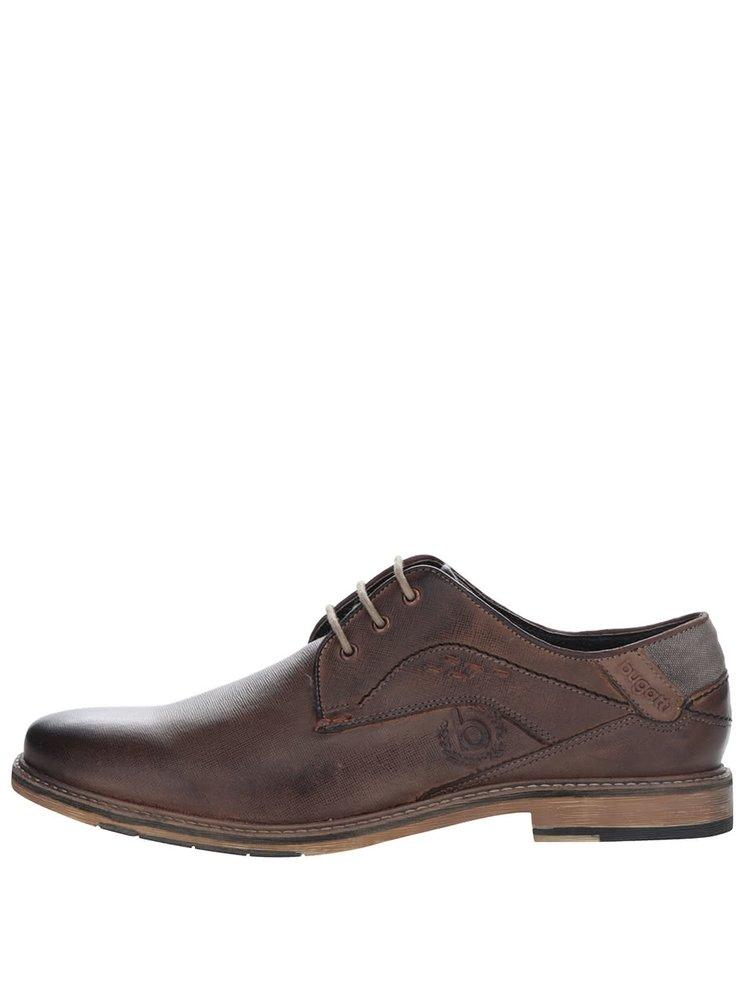 Pantofi maro închis bugatti Adamo personalizați cu logo
