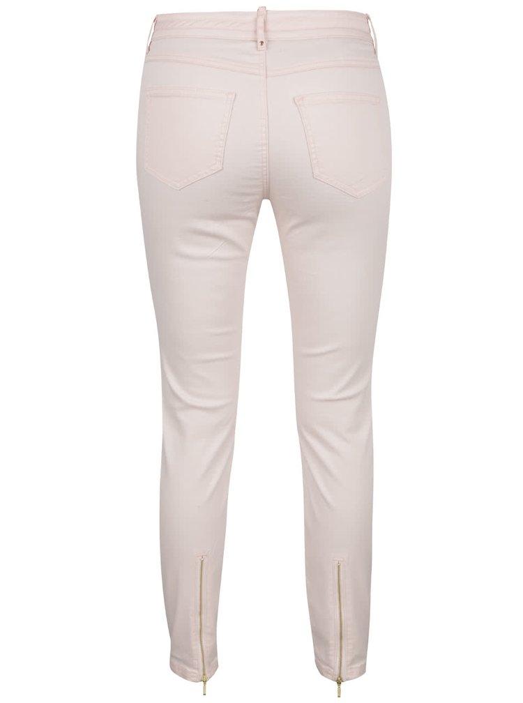 Světle růžové slim džíny VILA Karisma