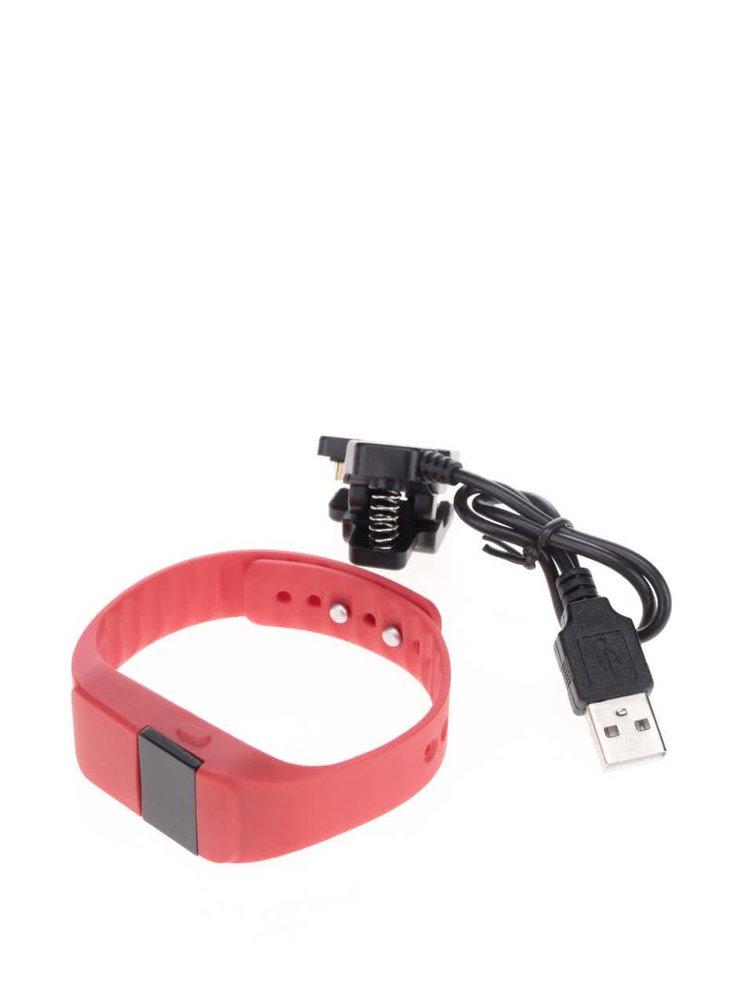 Červené fitness hodinky Loooqs Keep Fit