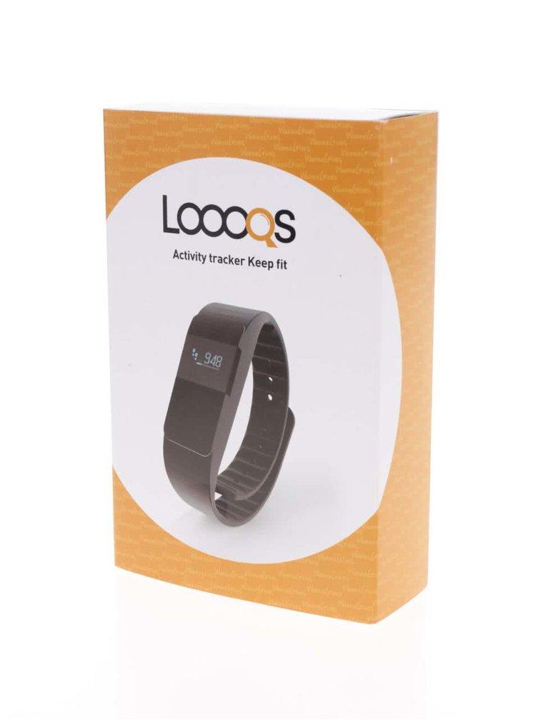 Černé fitness hodinky Loooqs Keep Fit