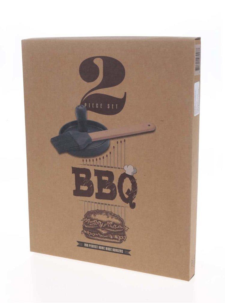 Trojdílný set na hamburgery Loooqs BBQ