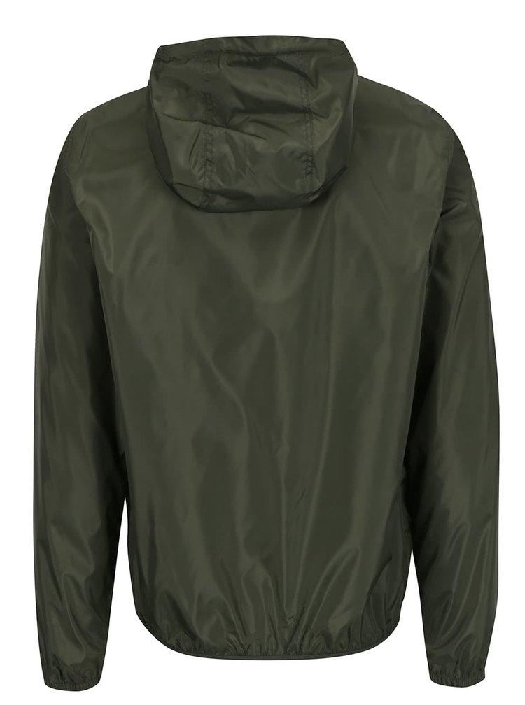 Zelená lehká šusťáková bunda s kapucí !Solid Horus