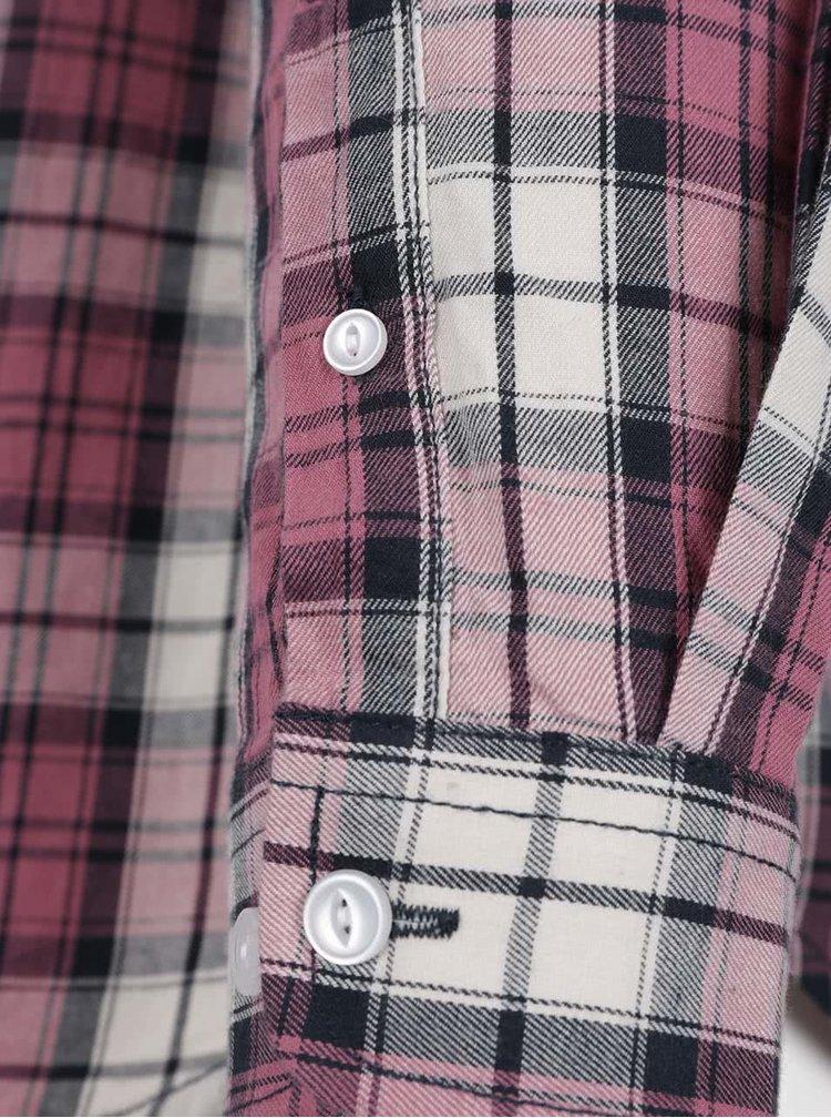 Růžová kostkovaná košile Shine Original Checked