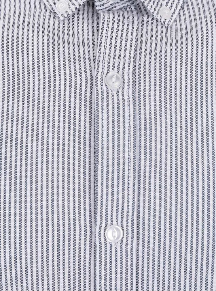 Cămașă negru&alb Shine Original cu model în dungi