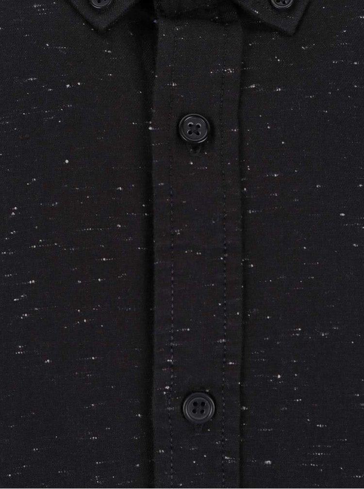 Cămașă neagră Shine Original Nep cu model discret