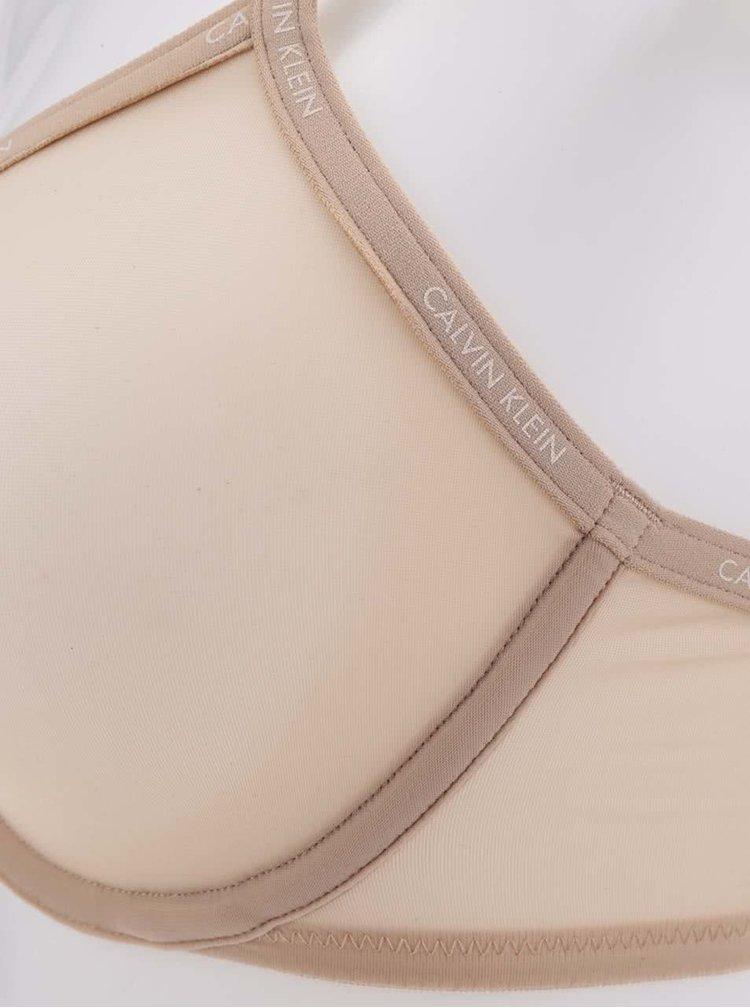 Béžová lehce průsvitná podprsenka Calvin Klein Underwear