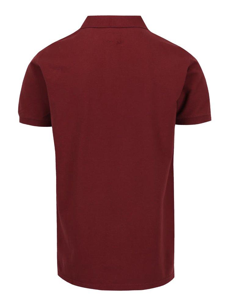 Vínové polo triko Shine Original