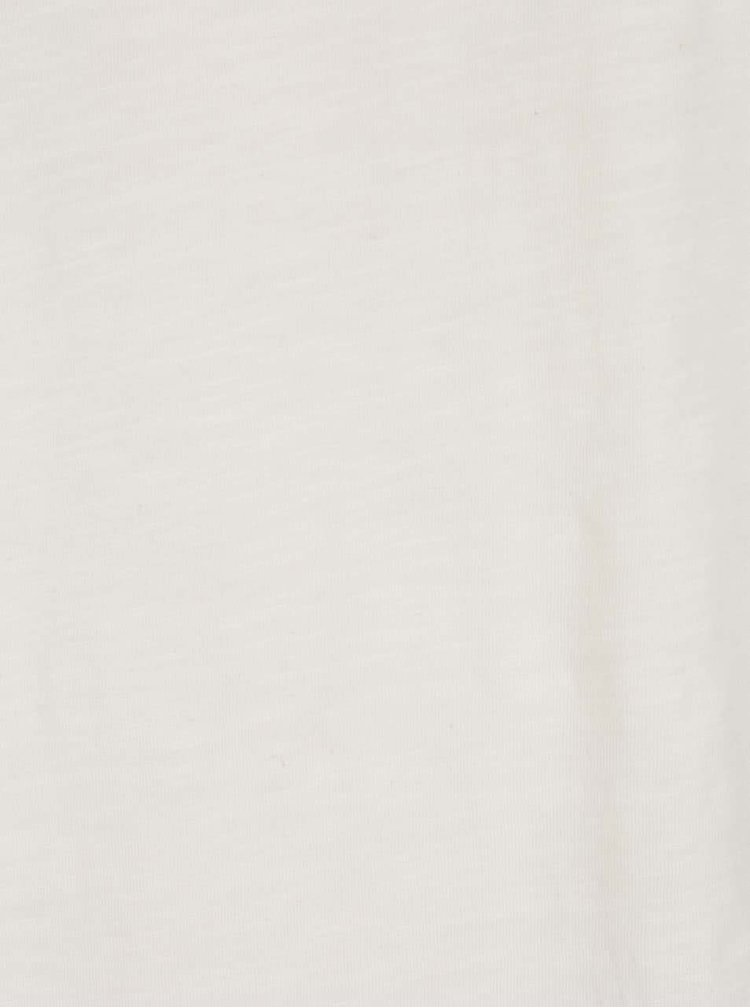 Krémové triko s kulatým výstřihem Shine Original