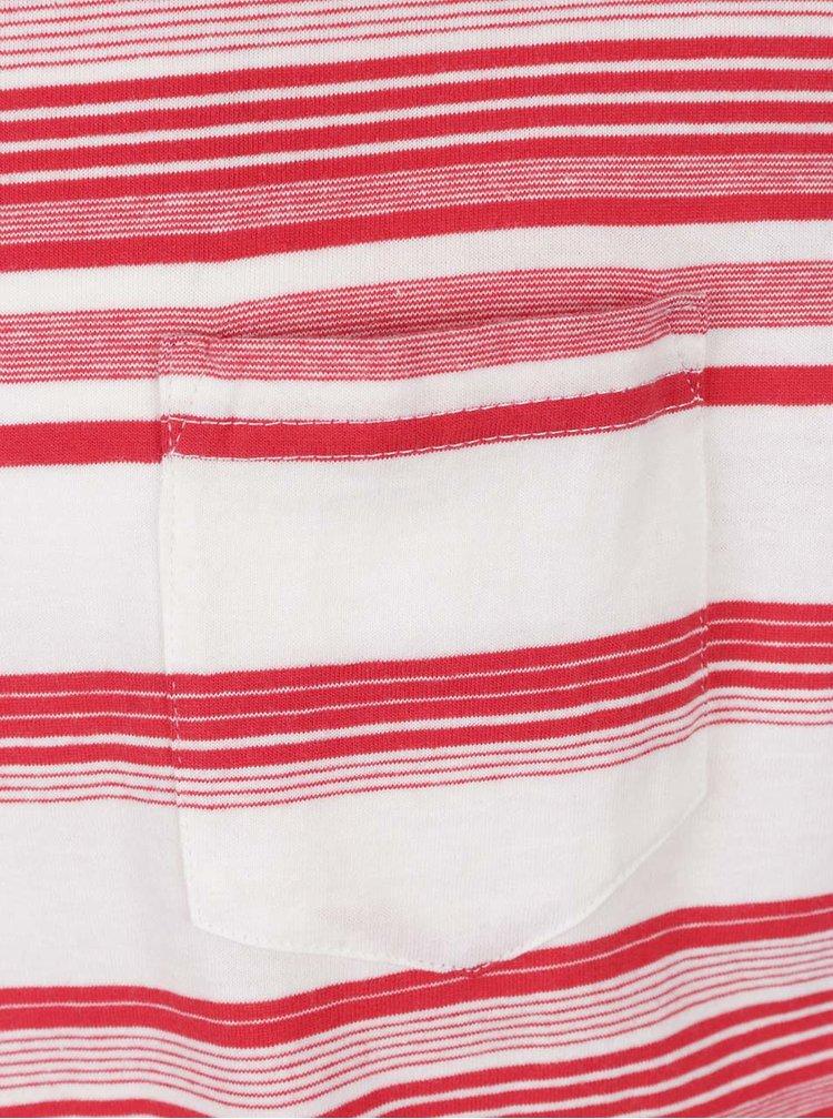 Krémovo-červené pruhované triko !Solid Halston