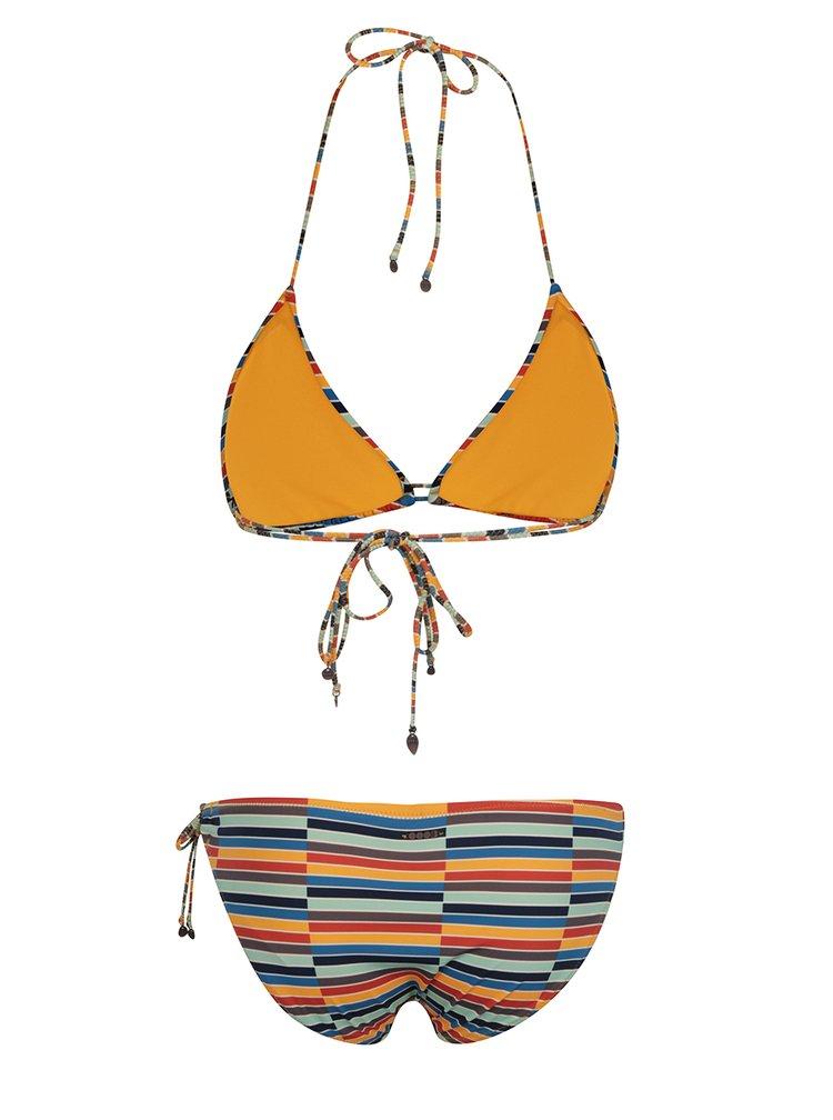 Oranžové pruhované dvoudílné plavky Bench