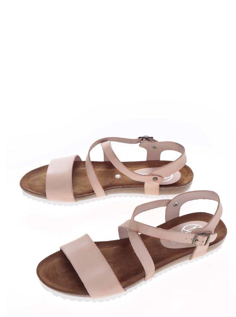 Sandale roz OJJU din piele