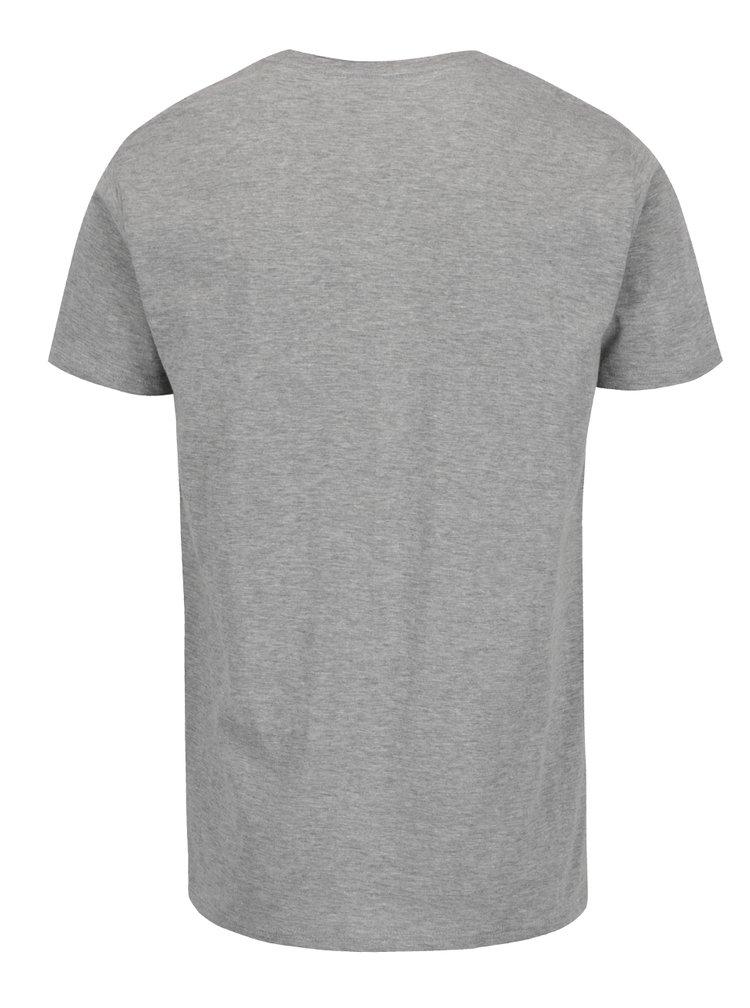 Šedé triko s potiskem a krátkým rukávem Shine Original