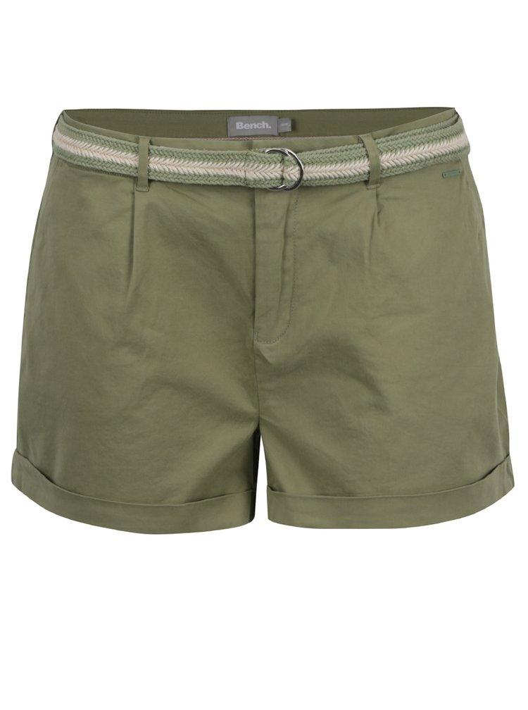 Pantaloni scurti verde oliv Bech cu curea