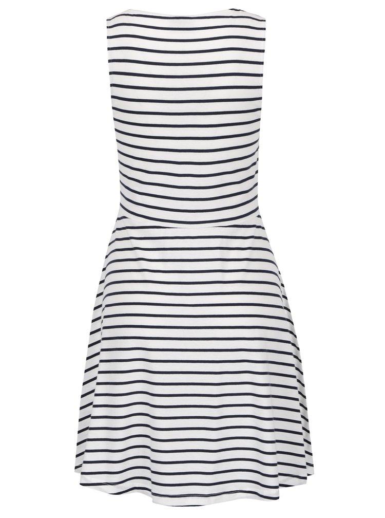 Modro-bílé pruhované šaty VERO MODA Oslo