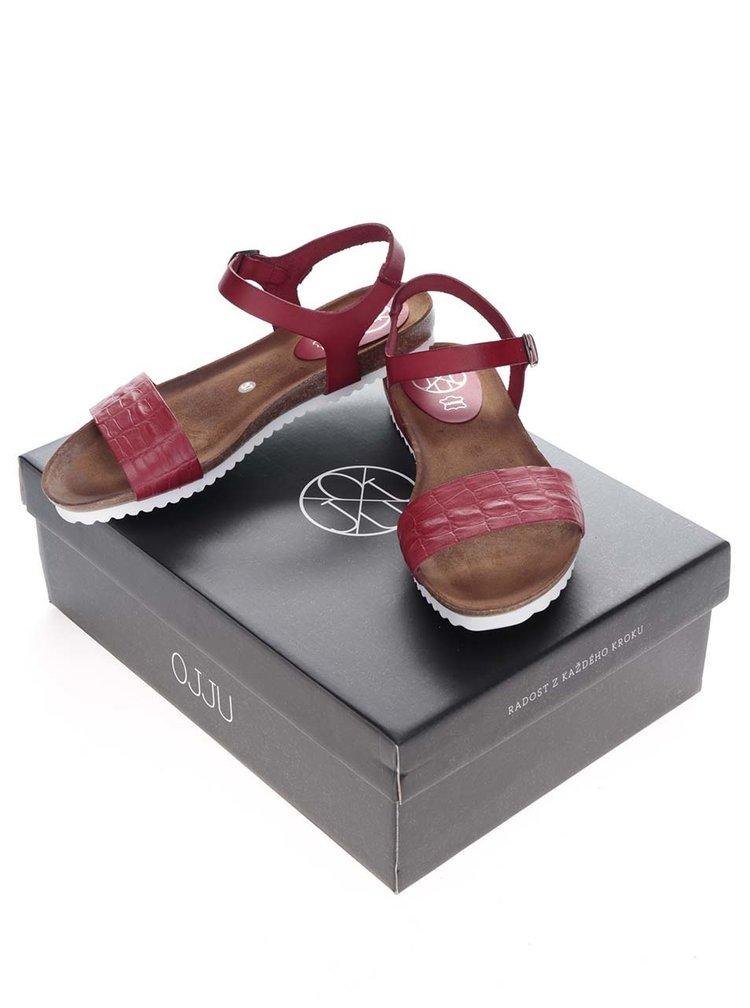 Sandale rosii OJJU din piele