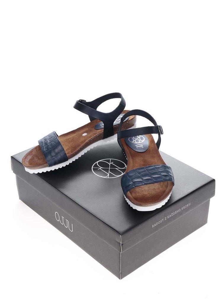 Sandale albastre OJJU din piele