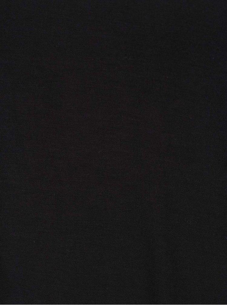 Černé tričko s průstřihy na ramenou VERO MODA True