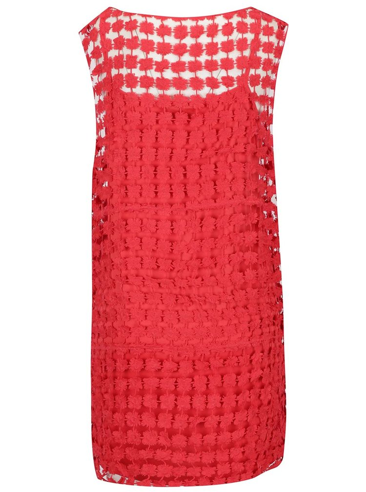 Rochie roșie VERO MODA Frace din dantelă