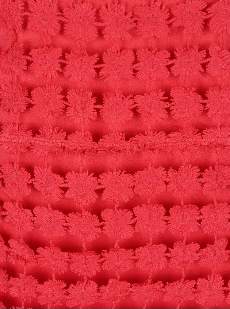 Červené krajkové minišaty VERO MODA Frace
