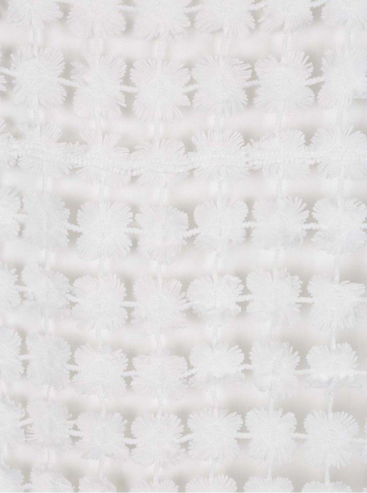 Bílé krajkové minišaty VERO MODA Frace