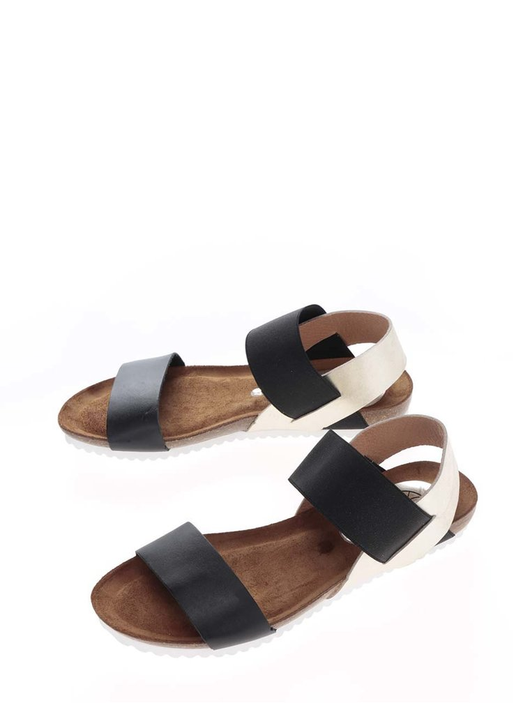 Sandale negre OJJU din piele
