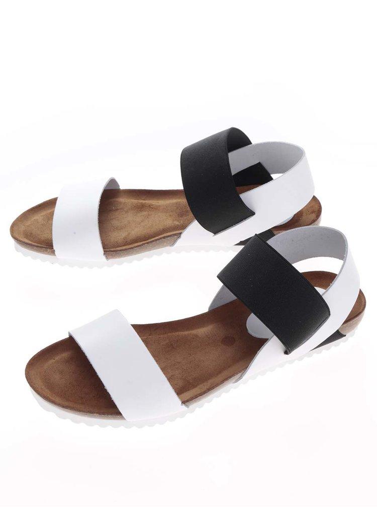 Sandale alb&negru OJJU din piele